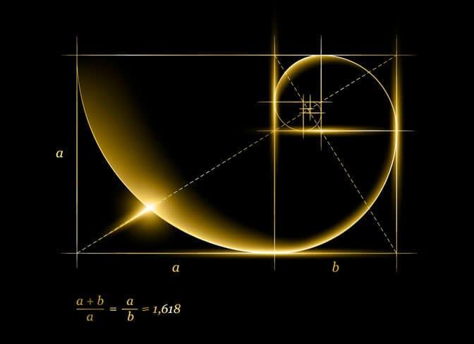 Illustrated golden ratio of mathematics