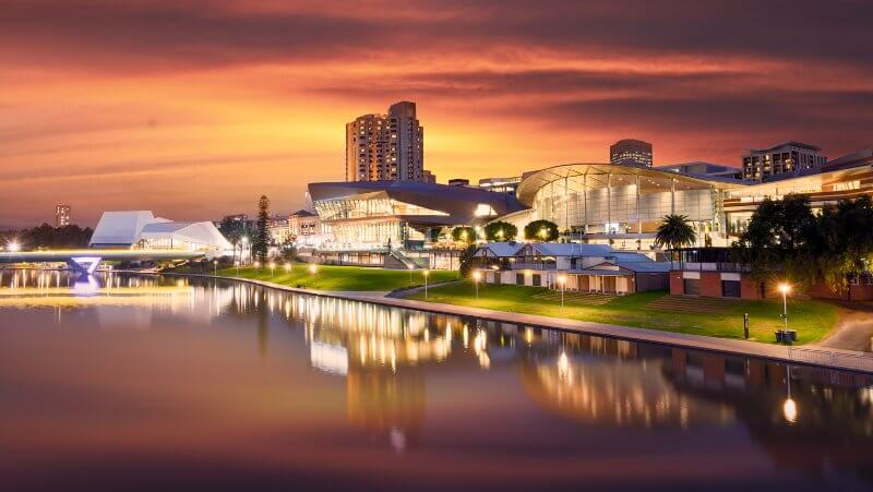 The Beautiful River Torrens in Adelaide, South Australia
