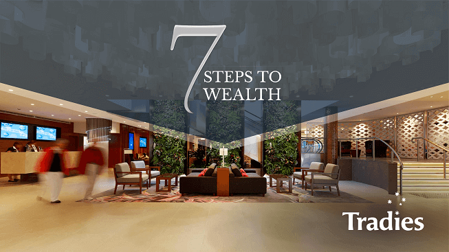 7 steps to wealth event in Tradies Gymea