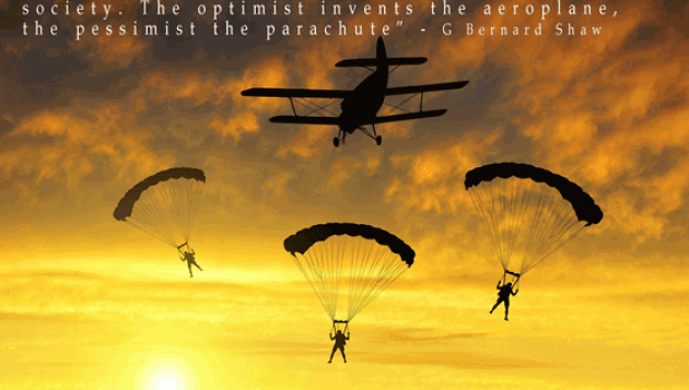 plane parachute B