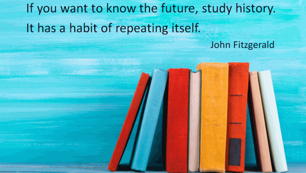 Books and a quote from John Fitzgerald